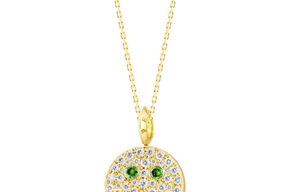 eye funny diamond smiley necklace