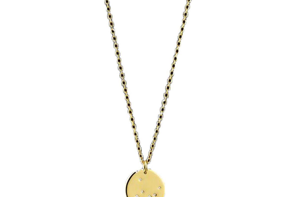 catherine zoraida 9ct gold virgo zodiac pendant