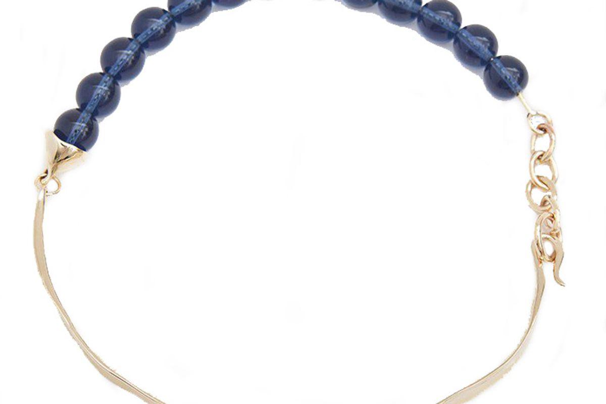 faris versus verre bronze collar necklace