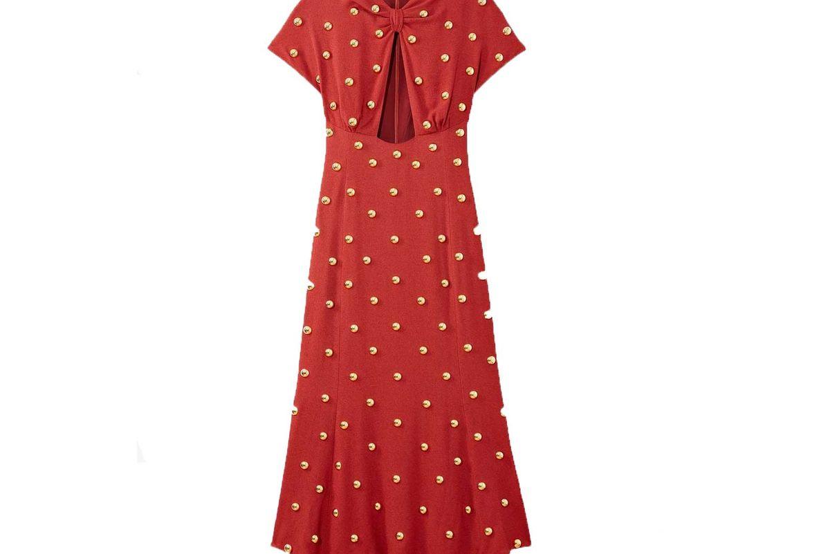 proenza schouler metal embroidered long dress