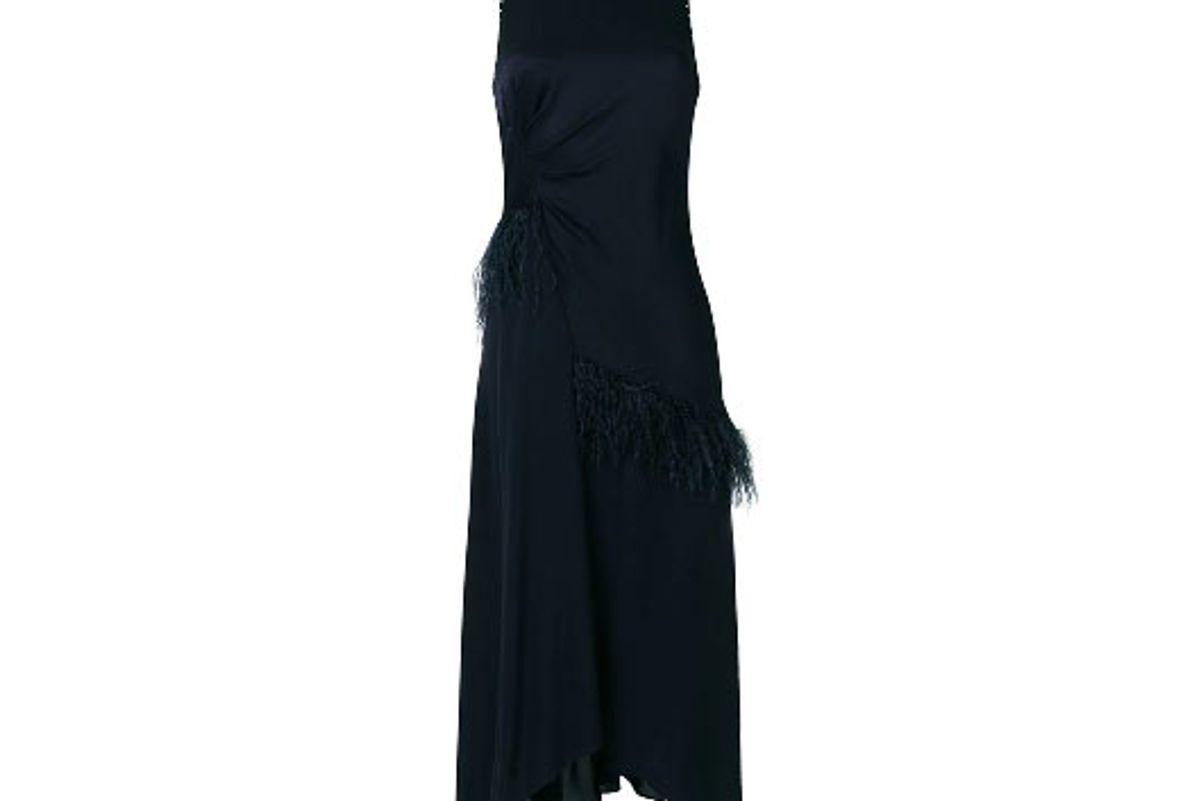 3.1 phillip lim asymmetric feather dress