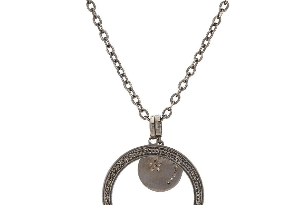 featured soul diamond encrusted arc pendant necklace