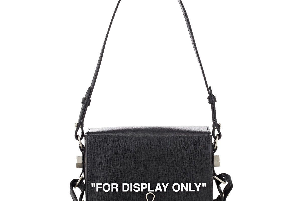 off-white c/o virgil abhol binder clip small leather crossbody bag