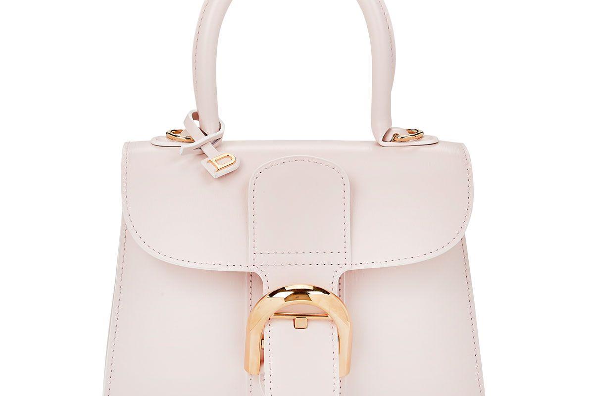 delvaux brillant mini leather satchel bag