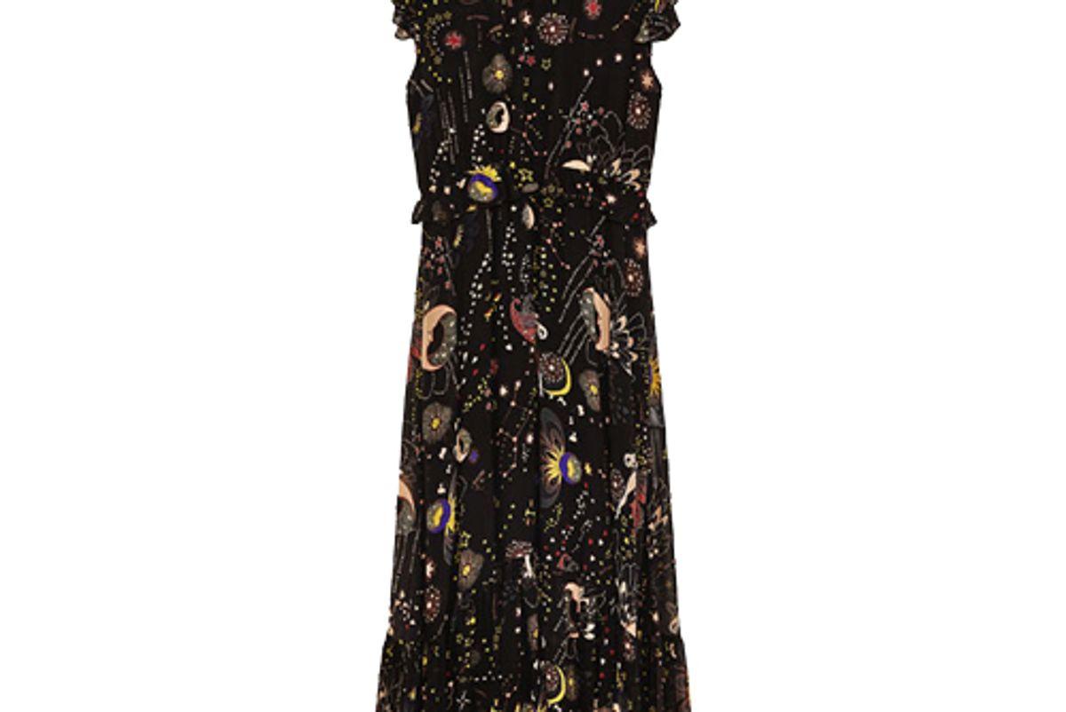 Zara Moon Print Midi Dress