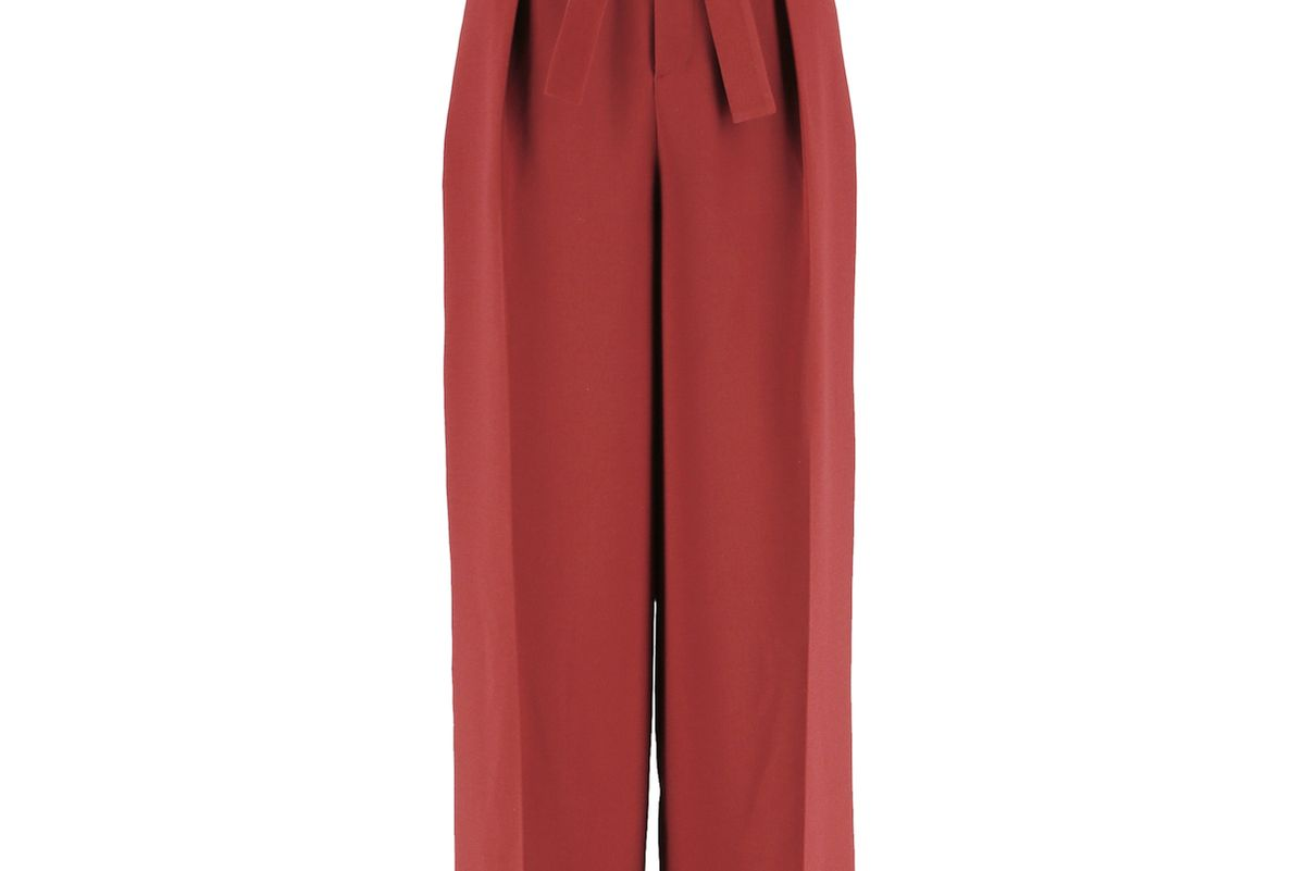 Women High-Waist Ribbon Wide Leg Pants