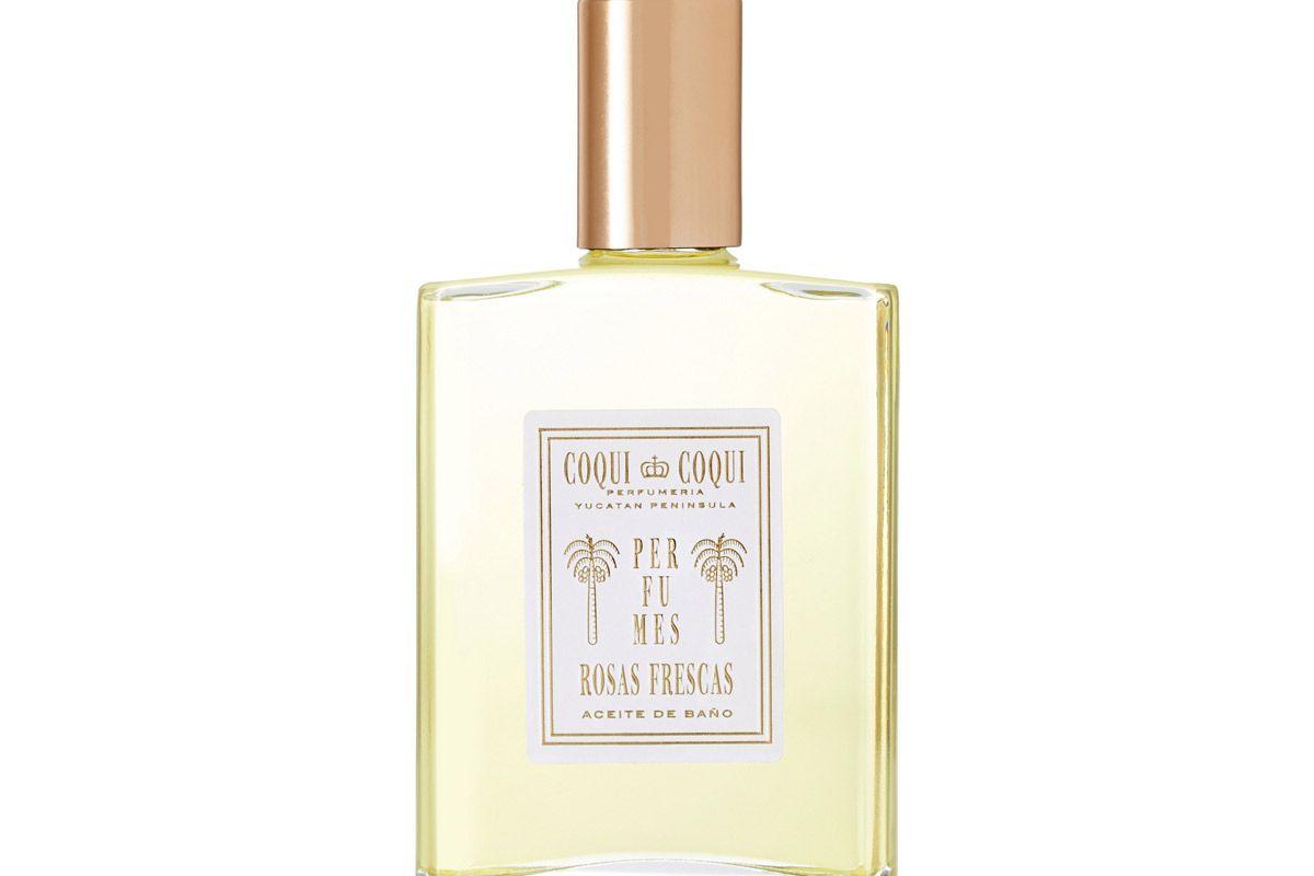 coqui coqui rosas frescas bath oil