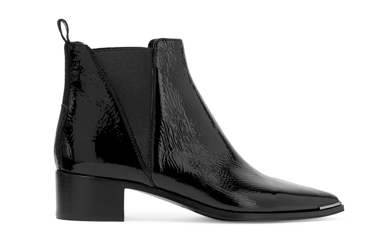 Jensen patent-leather ankle boots