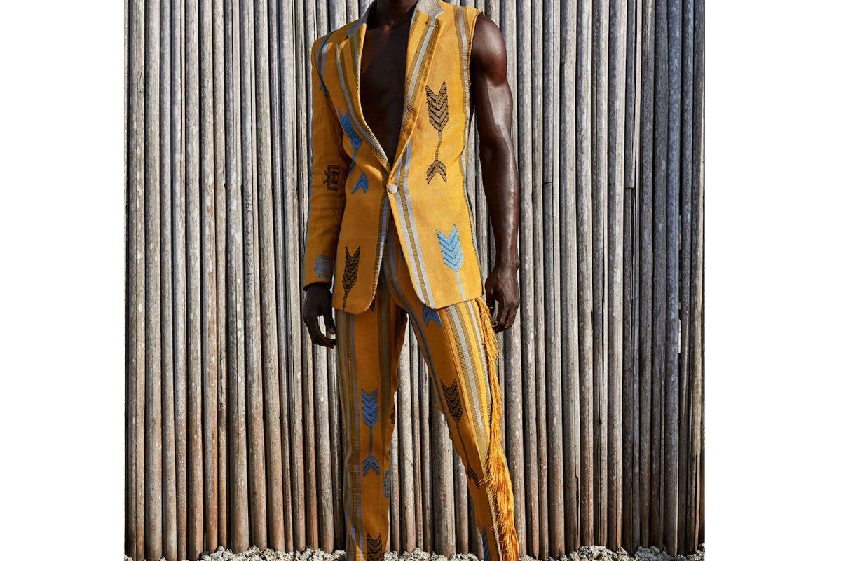 emmy kasbit deconstructed akwete blazer