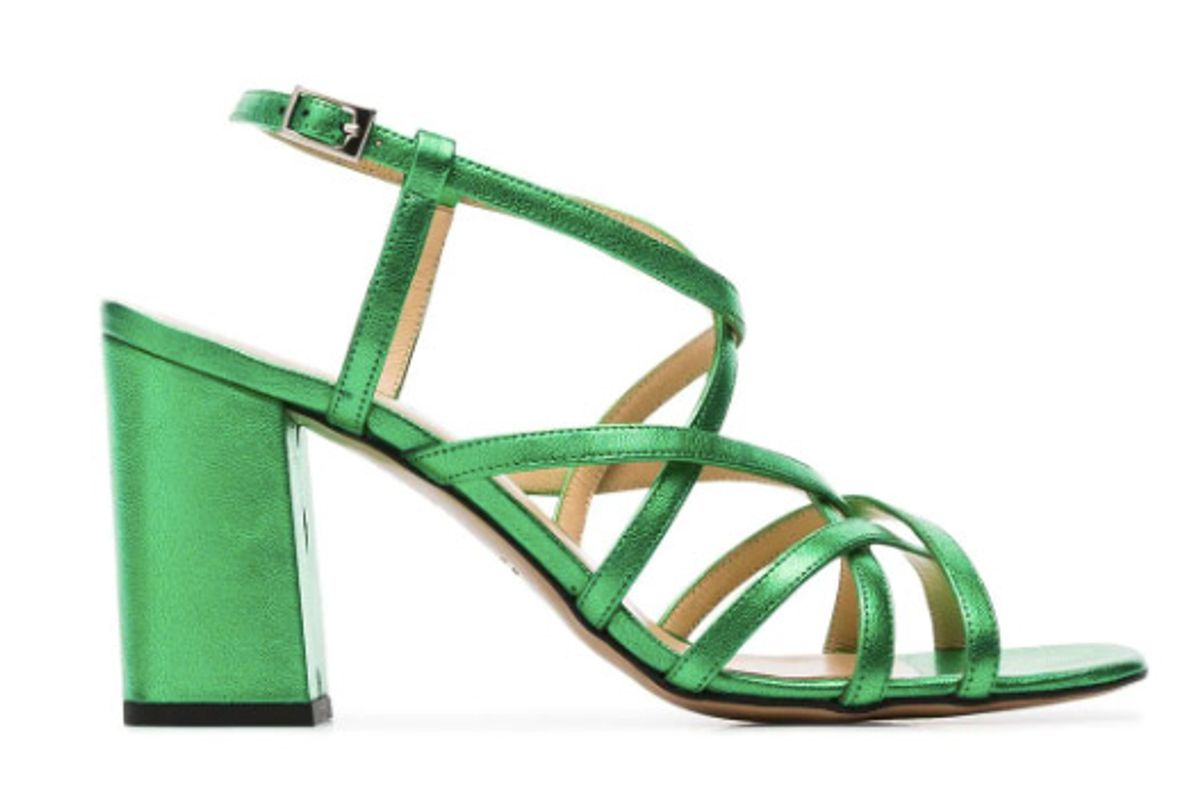 kalda green pip 45 leather sandals