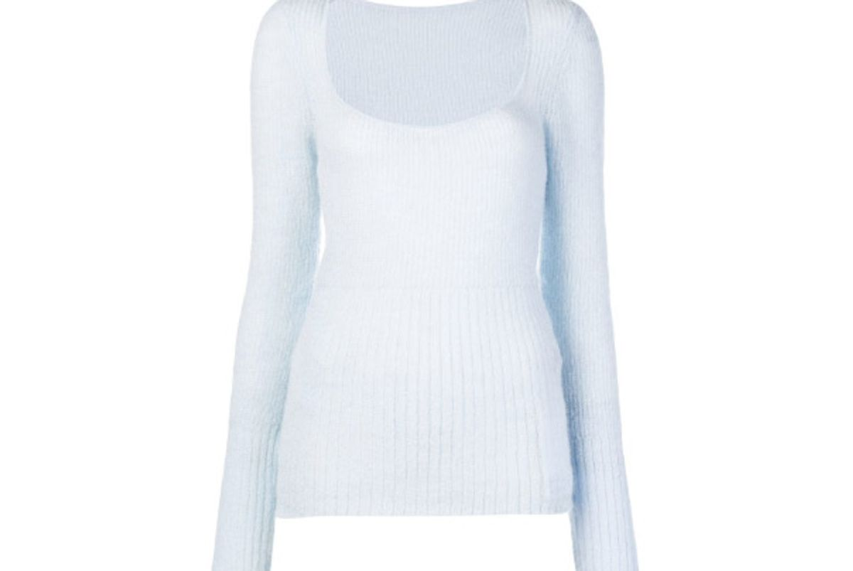 jacquemus ribbed knit sweater