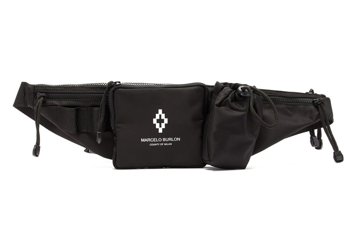 marcelo burlon logo print belt bag