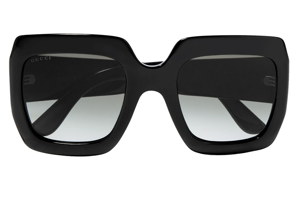 gucci pop web oversized square frame acetate sunglasses