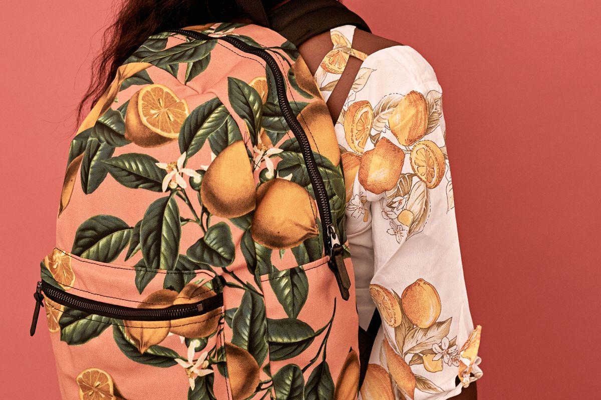 Lemon and Leaf Backpack Standard