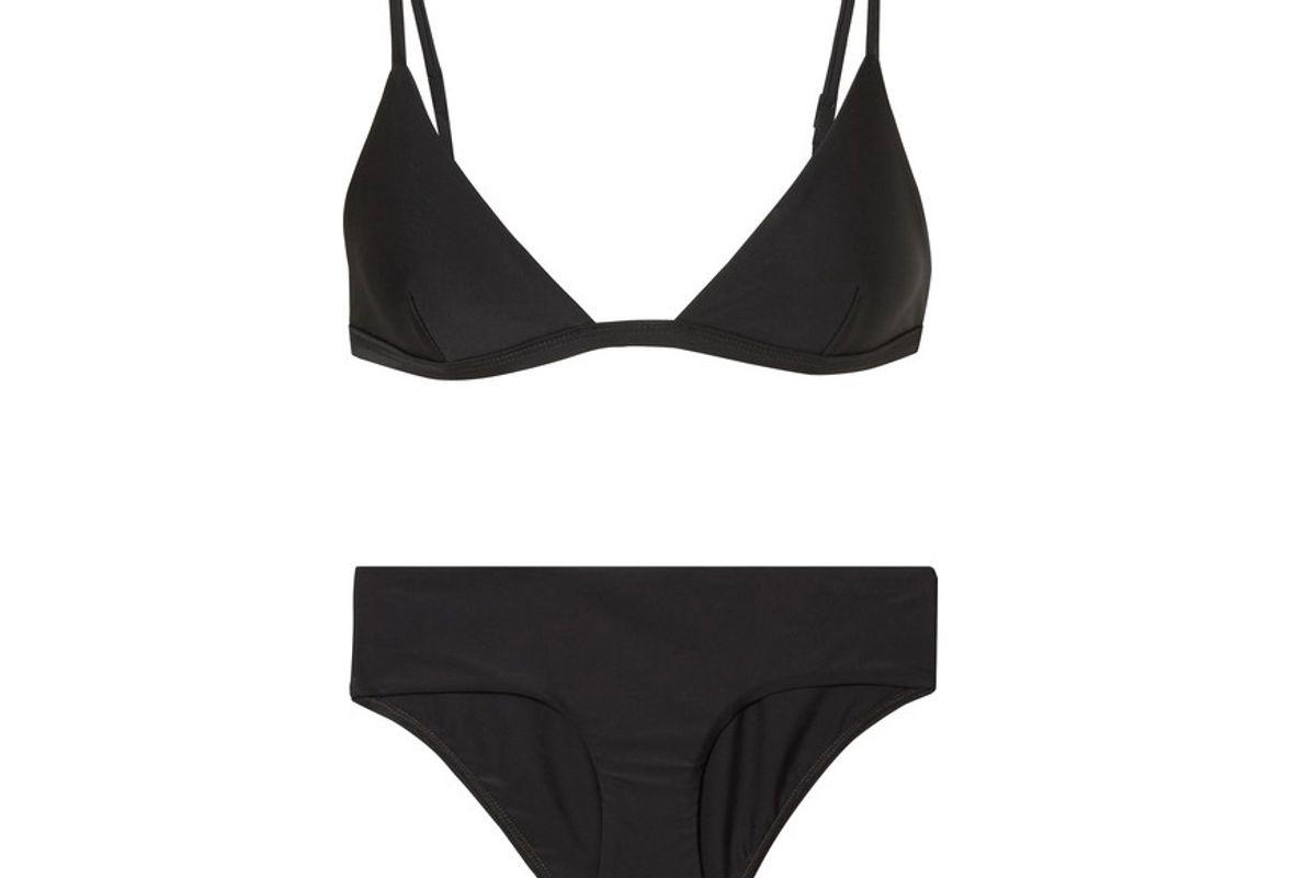 matteau petite triangle bikini top and boy briefs