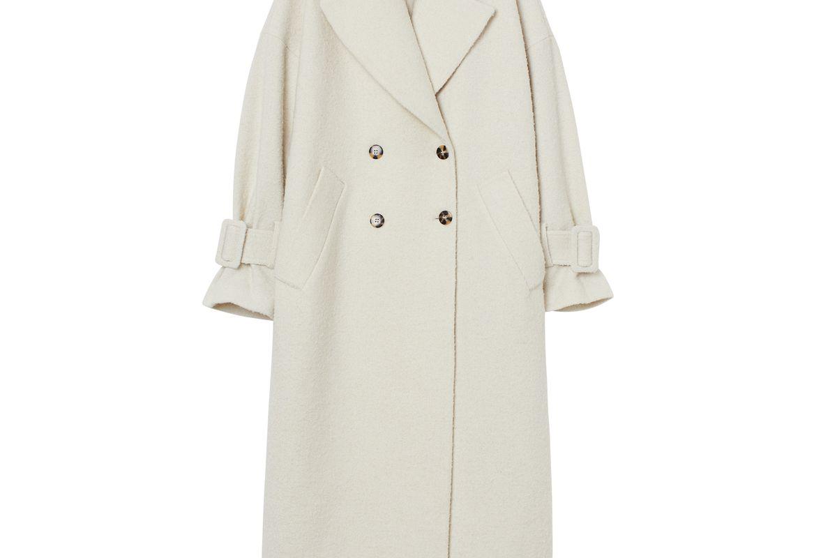 h&m long wool blend coat