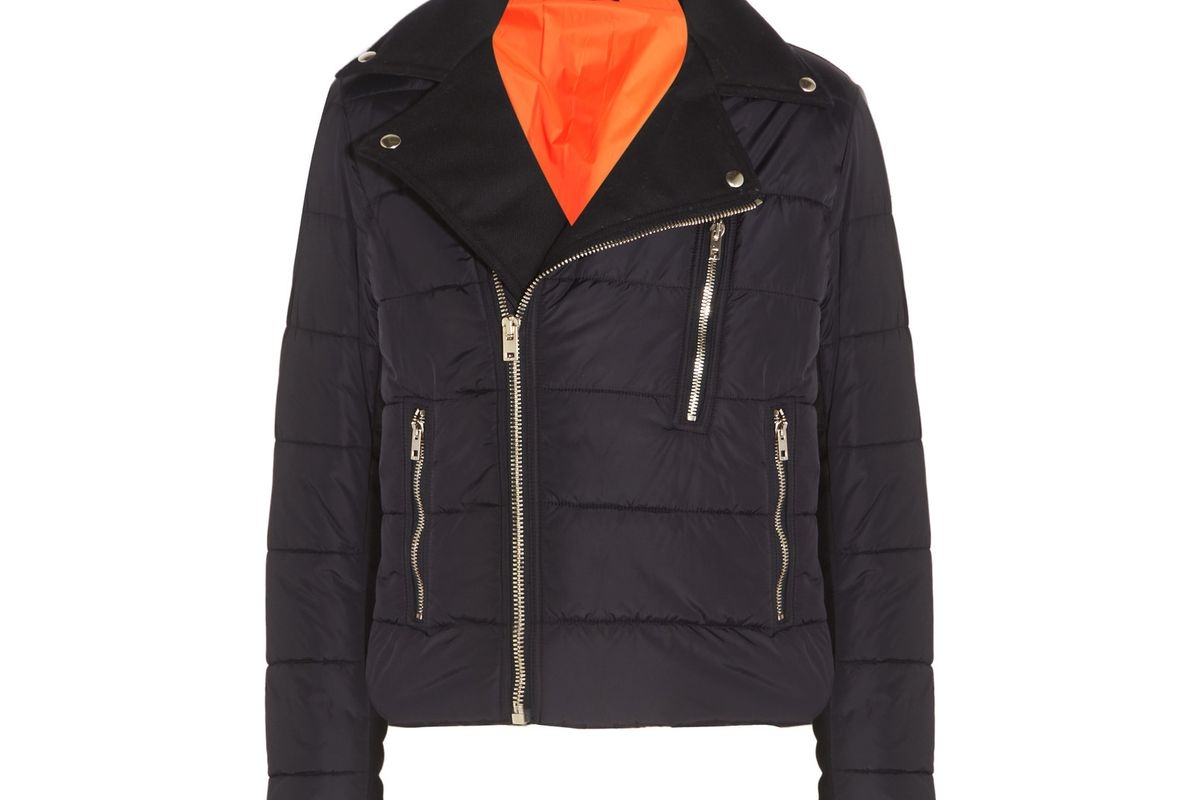 Darlington quilted twill-paneled shell jacket