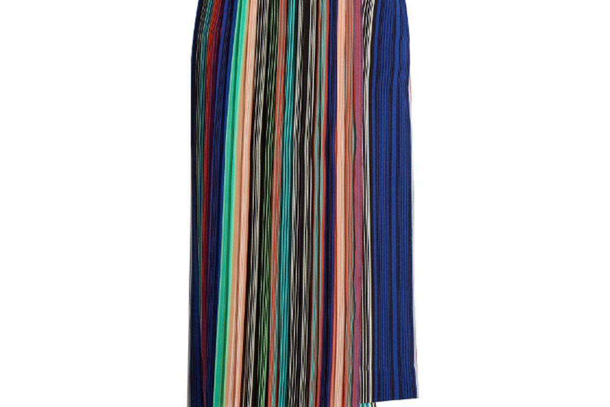 Diane Von Furstenberg Striped asymmetric stretch-cady skirt