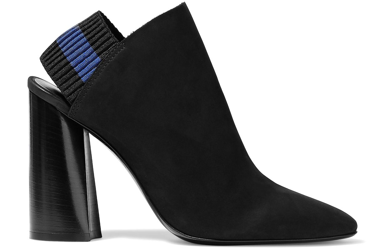 3.1 phillip lim drum suede slingback ankle boots