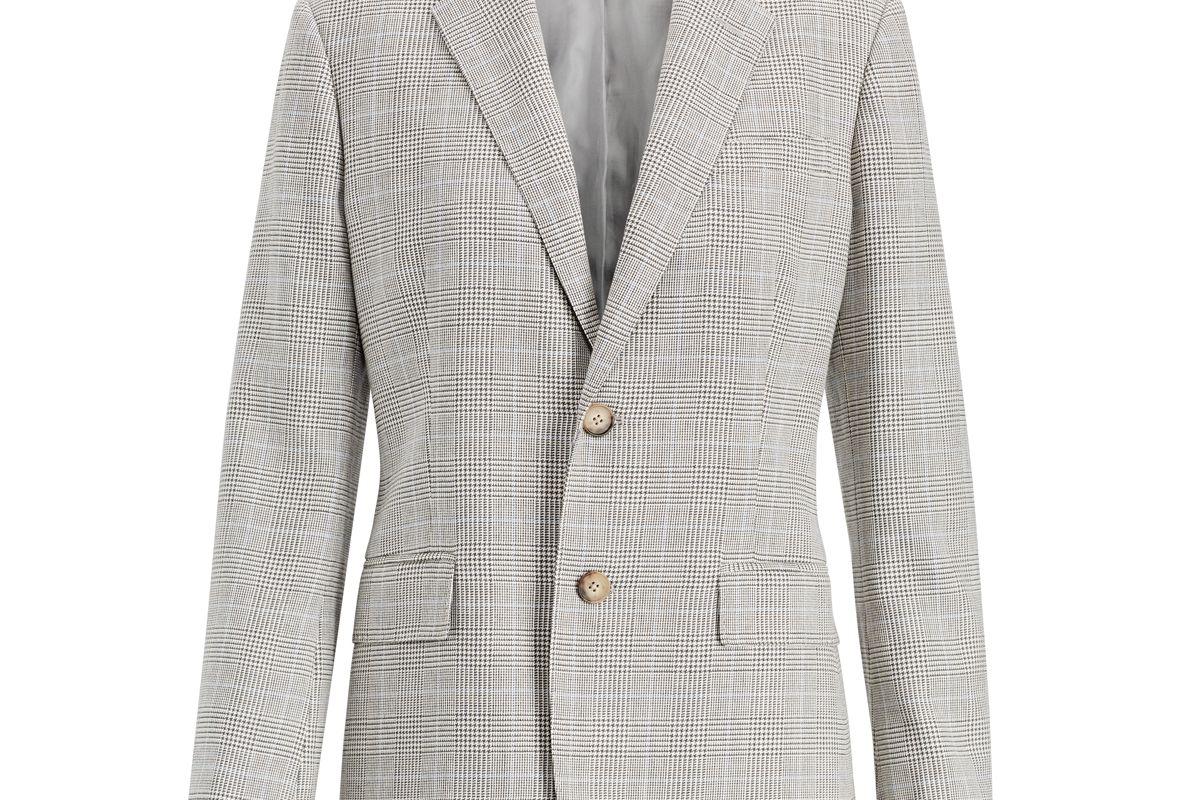 polo ralph lauren glen plaid tweed blazer