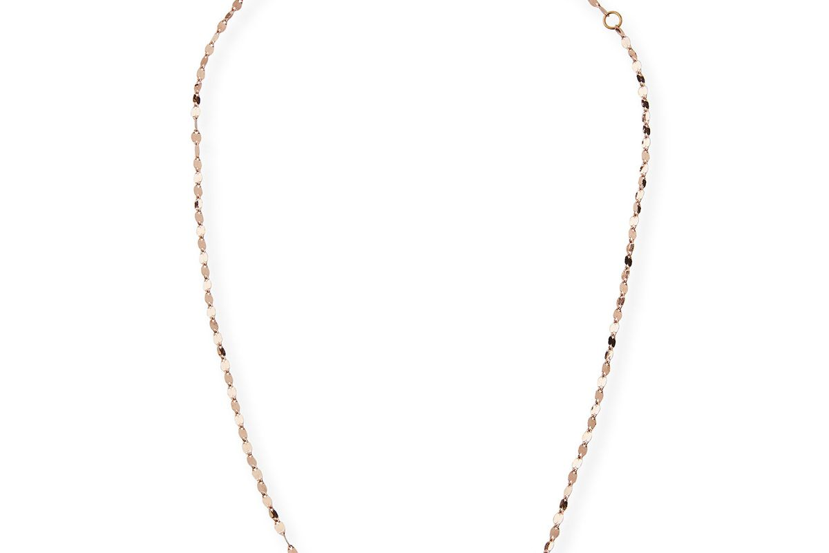 lana 14k alias single strand choker necklace