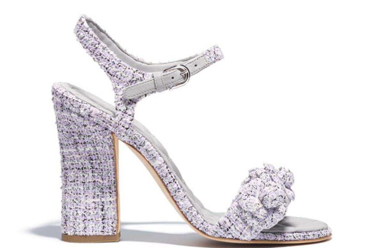 chanel tweed sandals