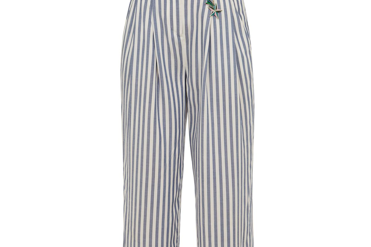 ted baker delyn striped wide leg pants