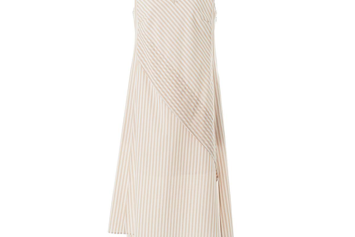 adeam striped shirting dress