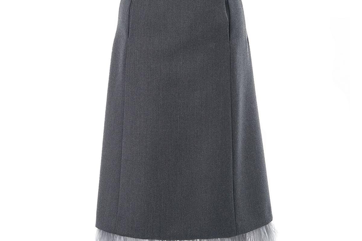 maison margiela wide panel skirt