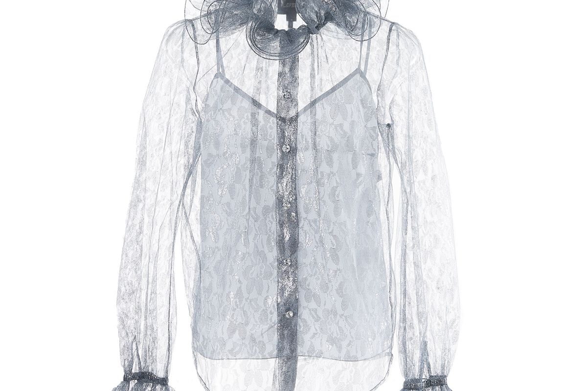 marc jacobs ruffled blouse