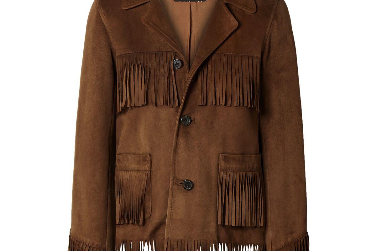 nili lotan frida fringed suede jacket