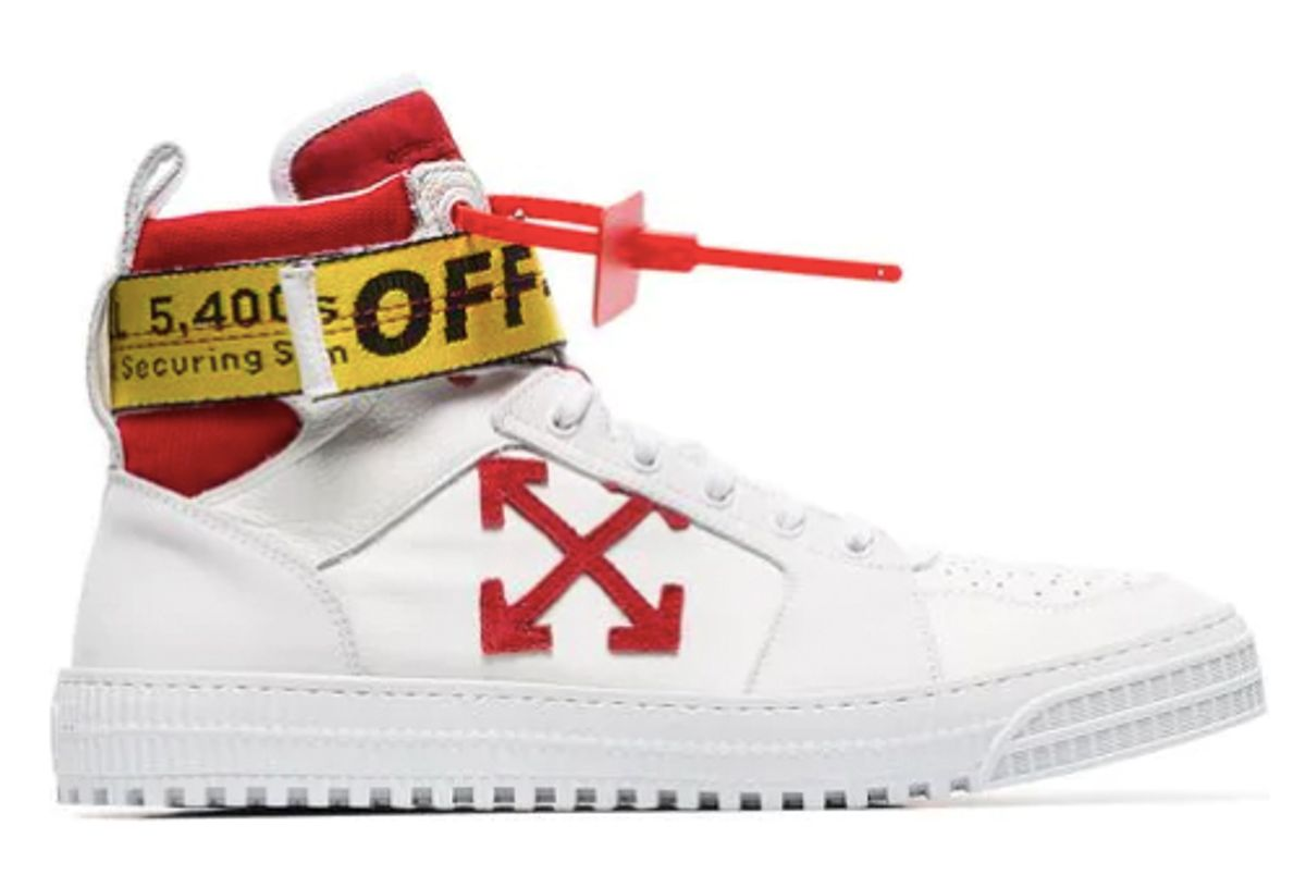 off-white hi top belted sneakers