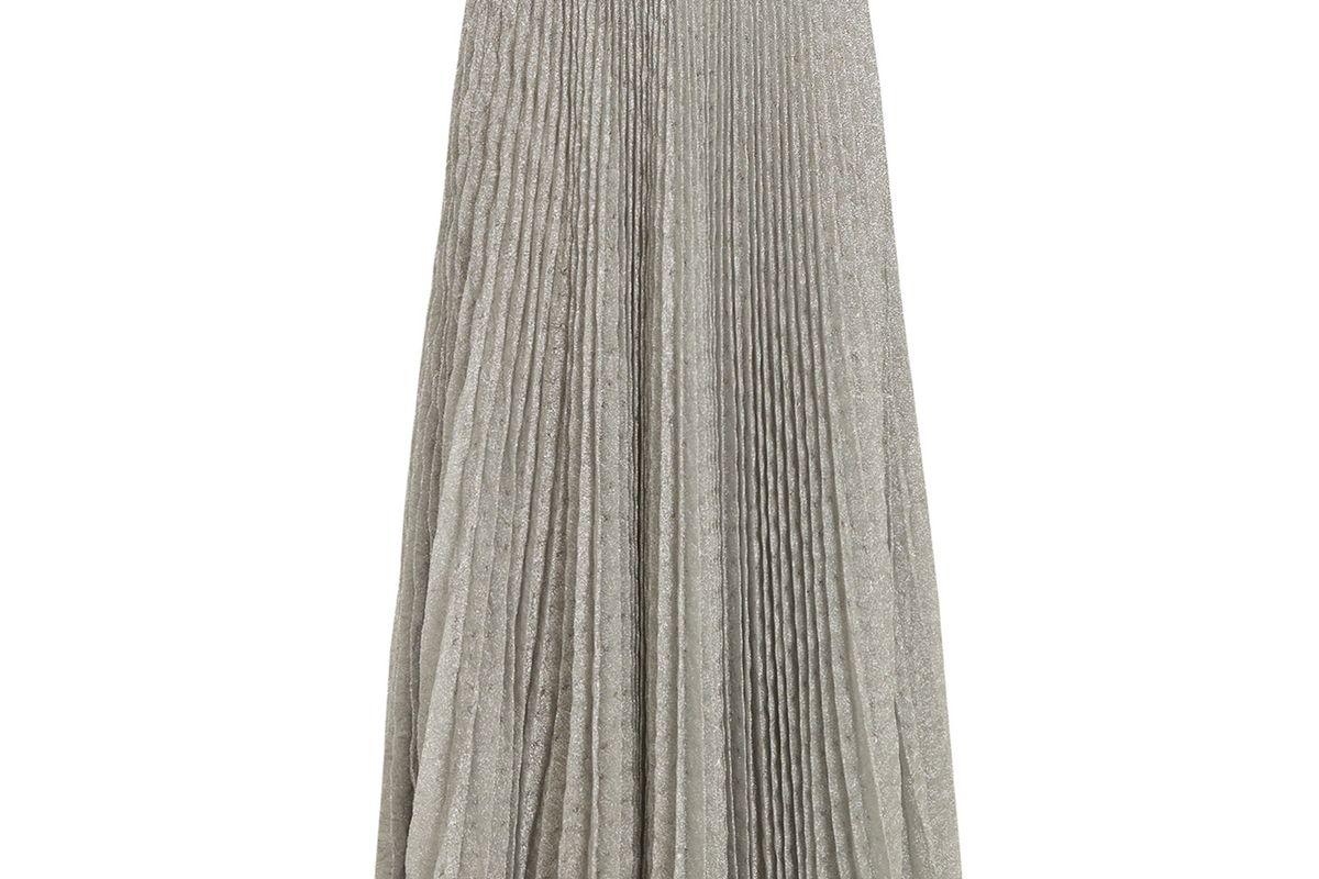 Missoni Pleated Geometric-knit midi skirt
