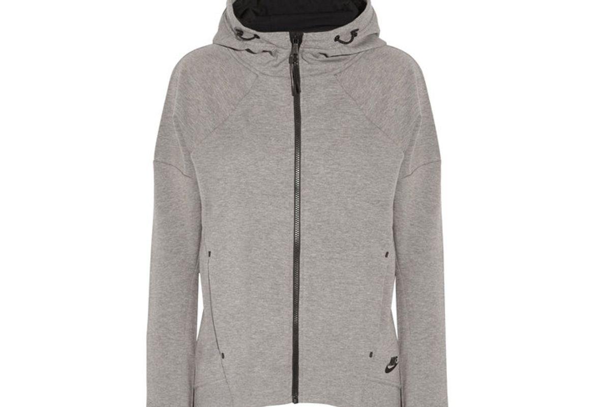 Tech Fleece cotton-blend jersey hooded top