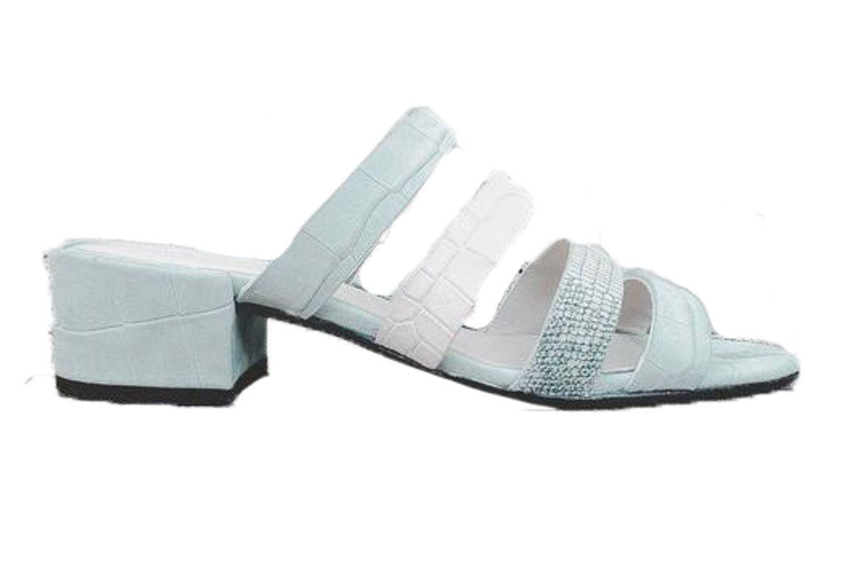 fredo salvador irene multi strap mid heel sandal