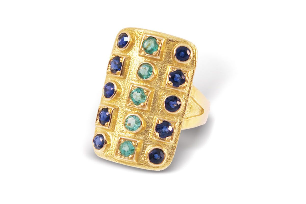 Byzantine Emerald and Sapphire Ring
