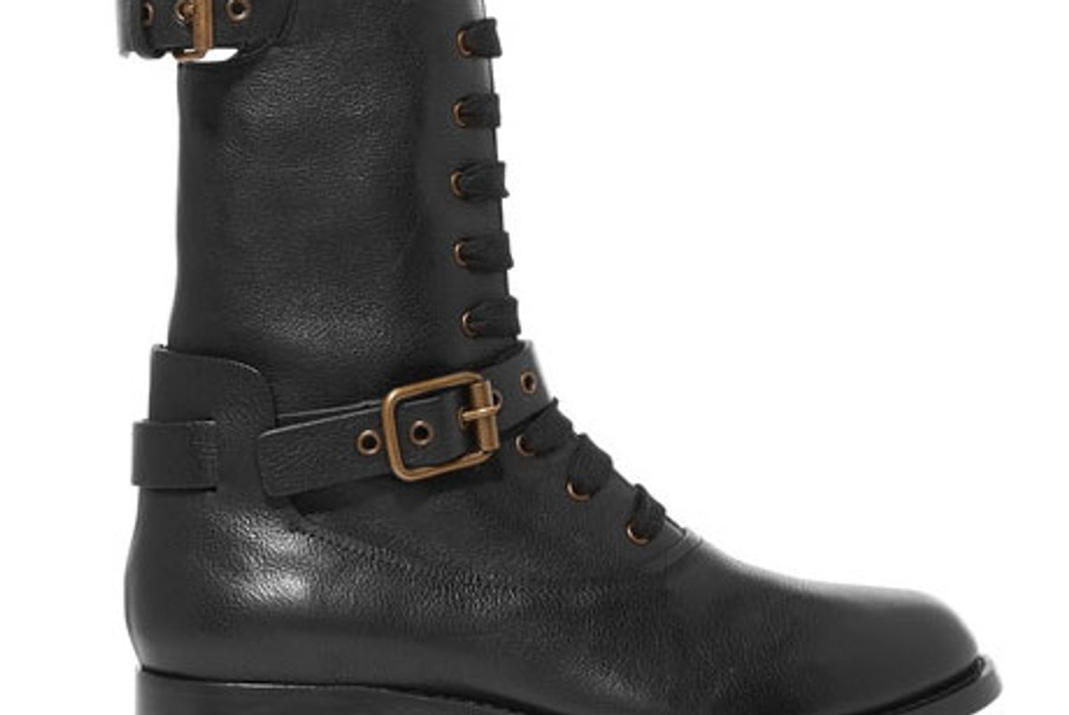 Otto Leather Biker Boots