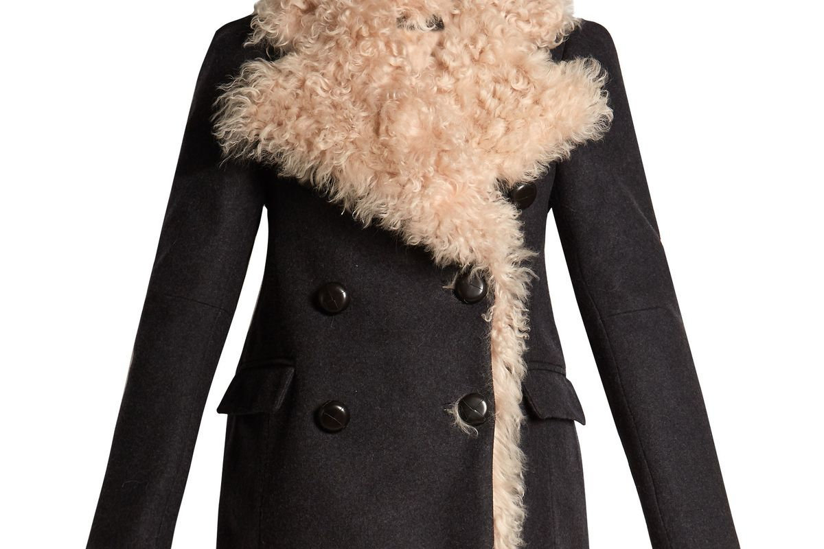 Berit Double-Breasted Shearling-Lined Coat