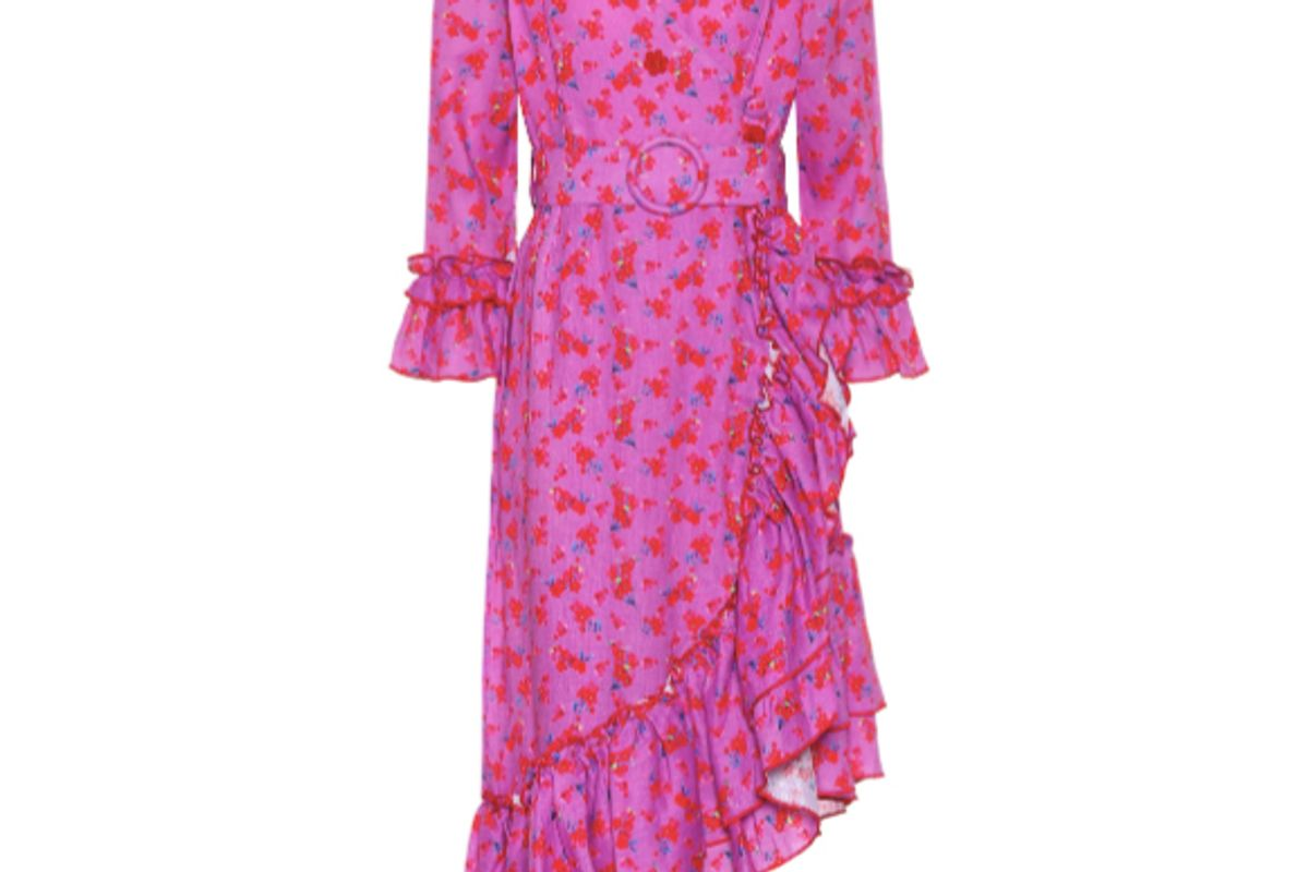 gul hurgel floral printed linen dress