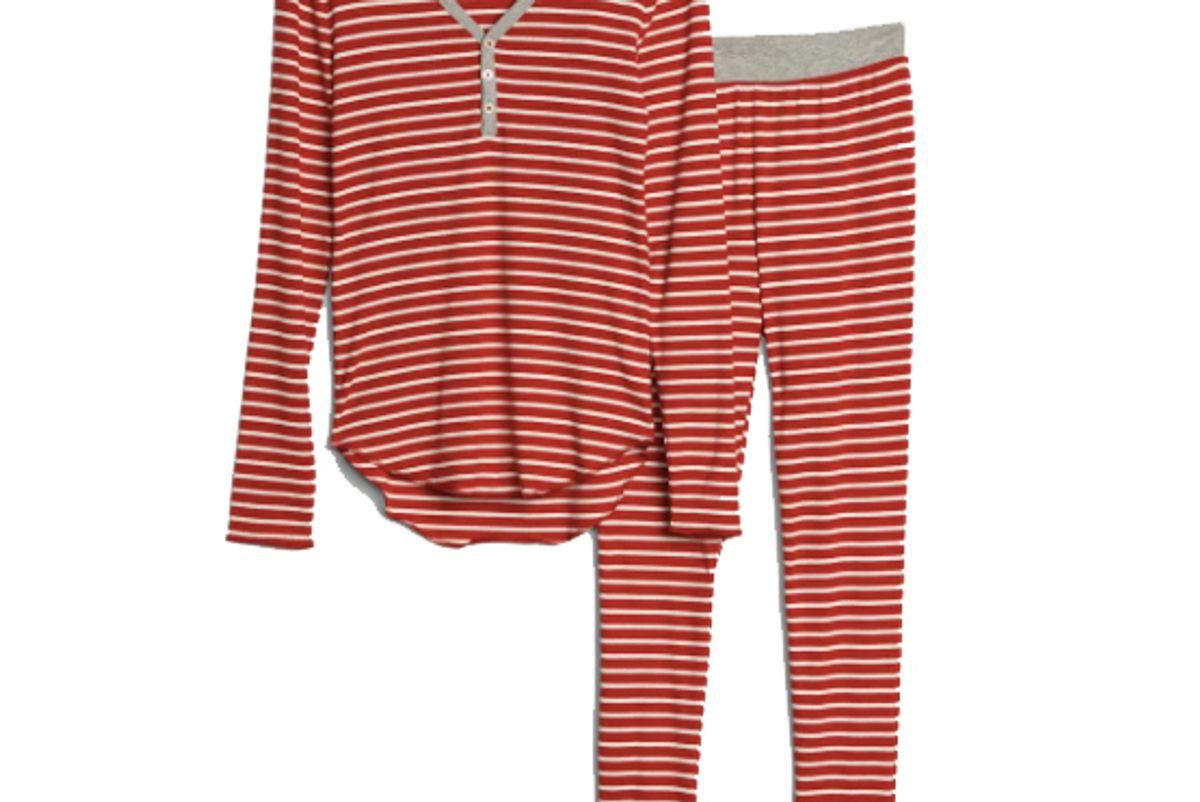 gap stripe ribbed pajama set