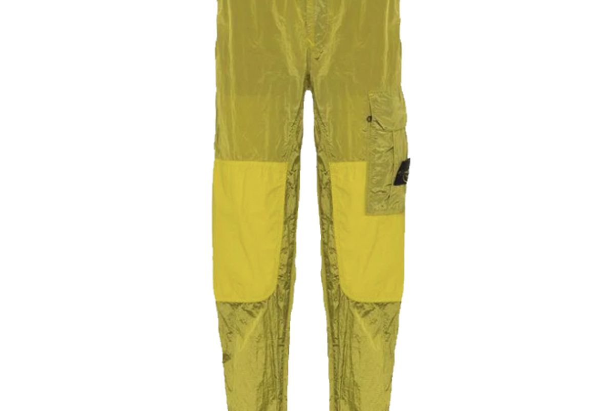 stone island patchwork utility trousers