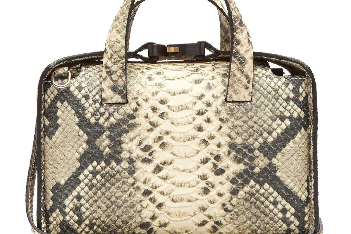 1017 alyx 9sm brie snakeskin effect cross body bag