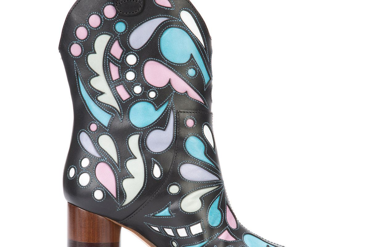 Printed Cowboy Boots