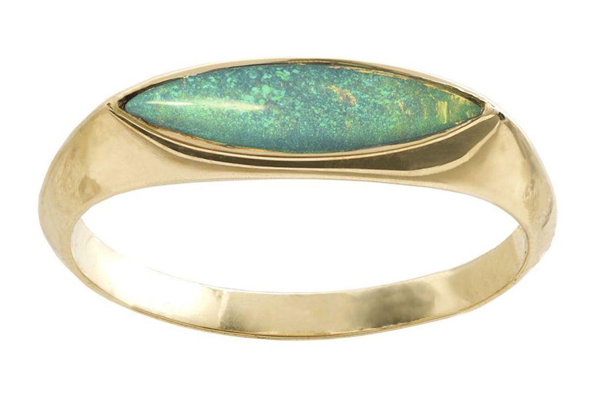 wwake opal eye signet ring