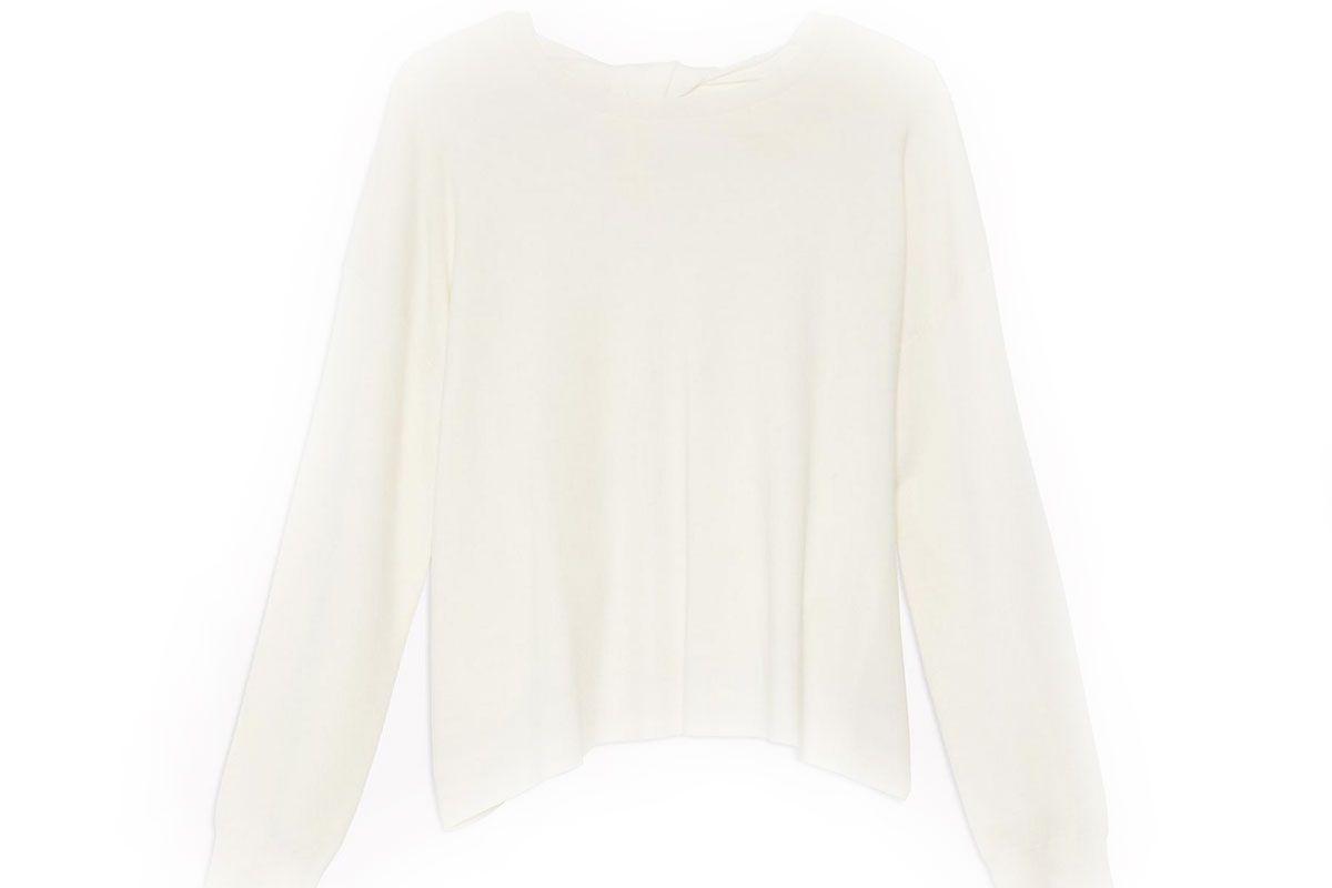 Fine Merino Twist-Back Sweater