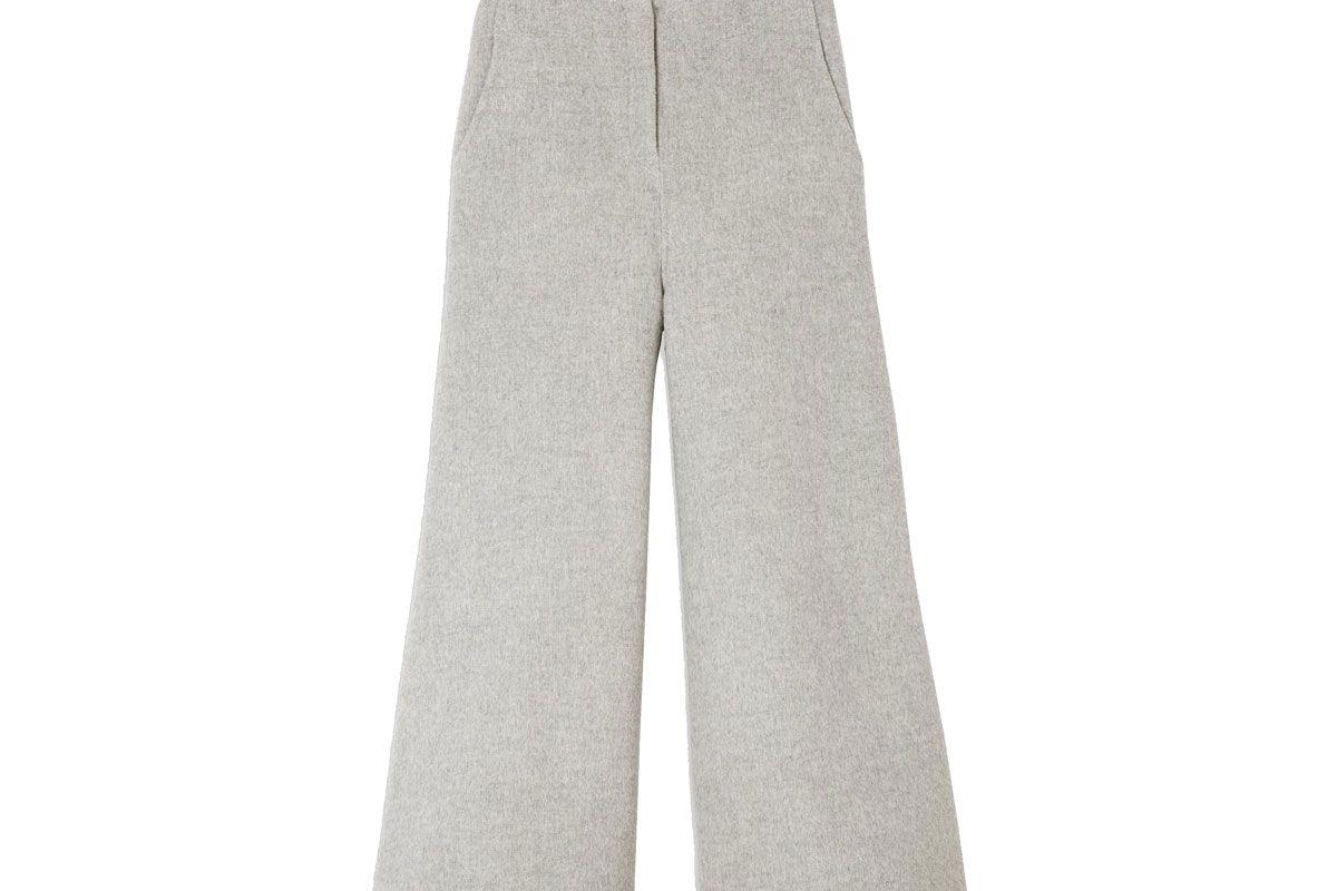 Double-Face Wool-Cashmere Culotte
