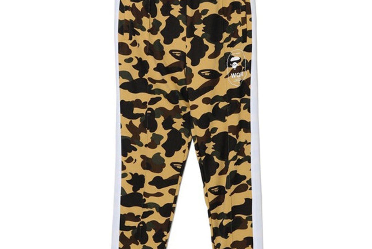 bape 1st camo line jersey pants