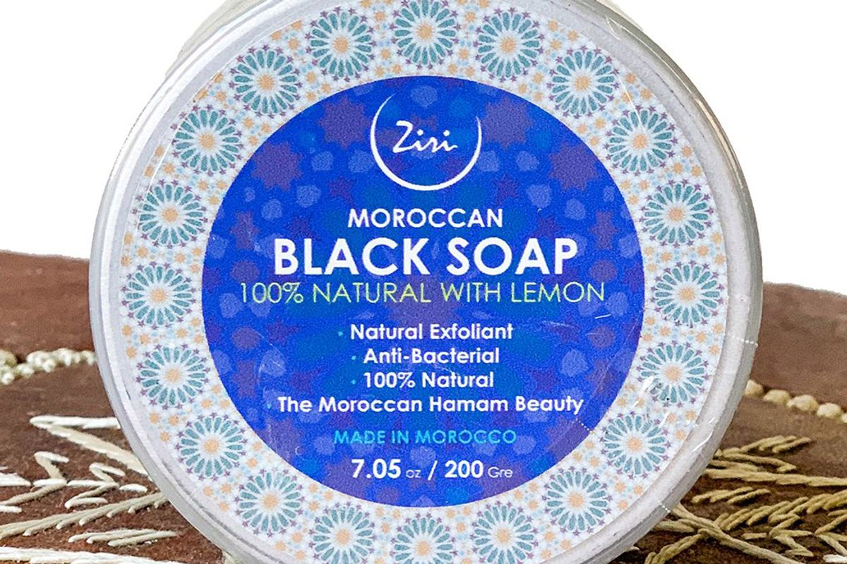 ziri skincare moroccan black soap with lemon