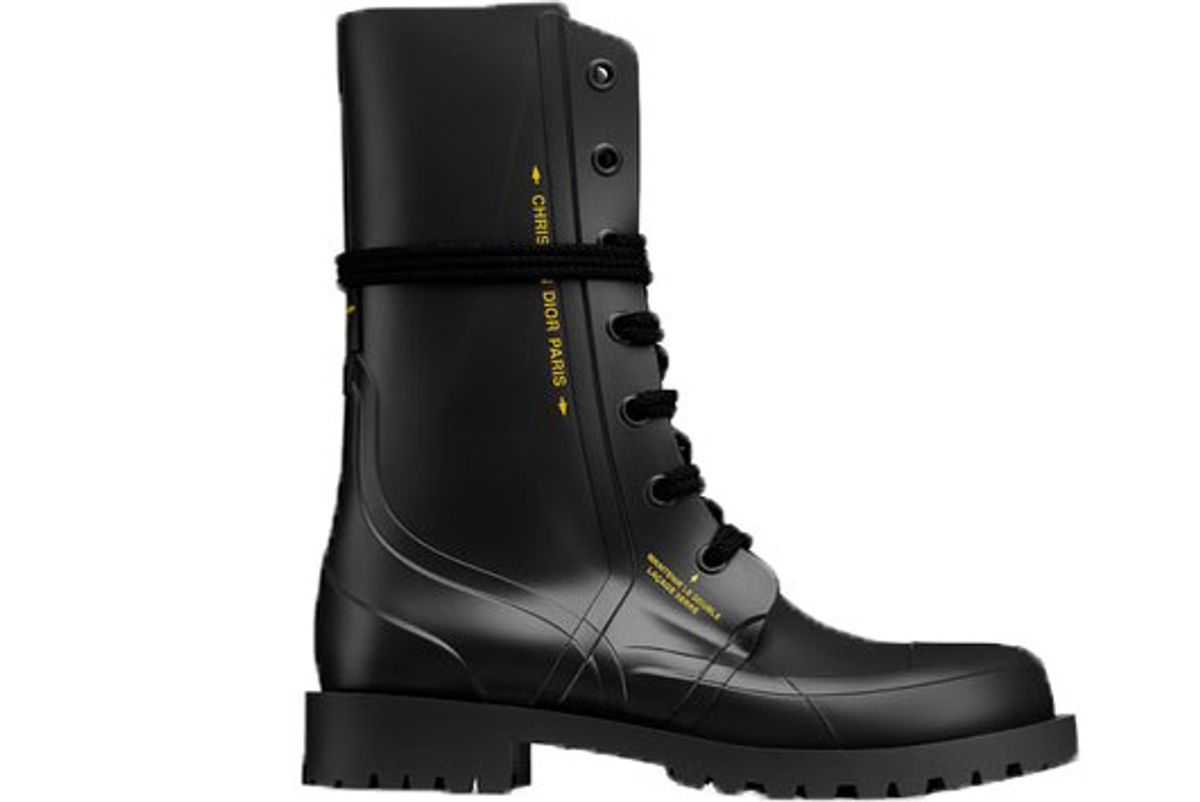 dior diorcamp rubber ankle boot