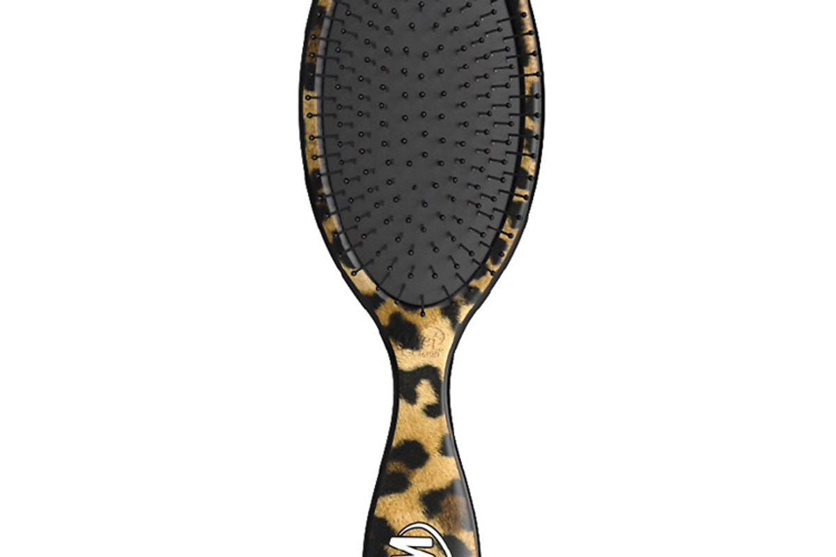 wet brush detangler brush safari leopard